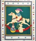 Marcians Ponies Quilt Wall Fabric Panel