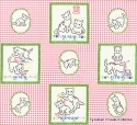 Back Porch Kitties Pink Fabric Panel <font color=red>SALE