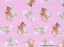 Bambi Thumper Bunny Forest Pink Toss Fabric