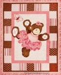 Belinda Bear Ballerina Pink Tutu Wall/Quilt Fabric Panel