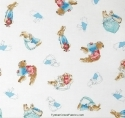 Beatrix Potter Peter Rabbit Cotton Tale Bunny Tossed Fabric