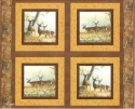 Deer Beyond the Horizon Fabric 4 Pillow Panels