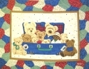 Everyday Suitcase Bears Quilt Panel
