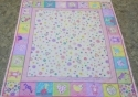Flowers Toys Blocks Pre-Quilted Fabric Panel