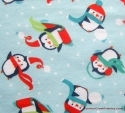Happy Penguins Colorful Scarves Flannel