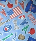 Batter Up ~ Little League Baseball Fabric