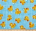 'Tub Time' Rubber Duck Bubbles Fabric