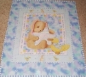 Twinkle Little Star Bunny Glitter Quilt Fabric Panel