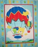 Up Up & Away Blue Fabric Panel