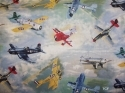 United States Postal Vintage Air Planes Fabric