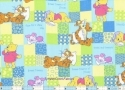 "Winnie and Friends Napping Patches 33"" Fabric"