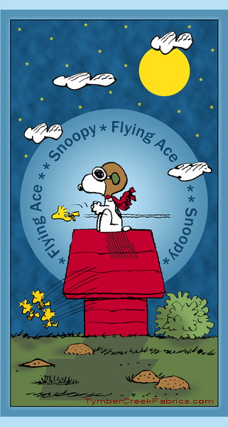 "Snoopy the Flying Ace  Imaginary Mission 24"" Panel"