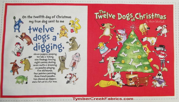 The 12 Dogs of Christmas Fabric Soft Book
