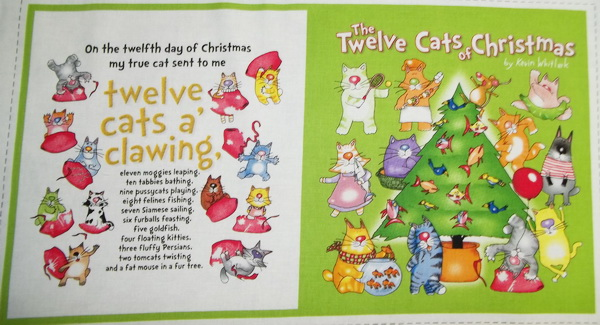 The 12 Cats of Christmas Fabric Soft Book