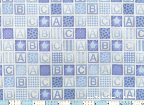 Rock-A-Bye Baby Blocks Blue Alphabet