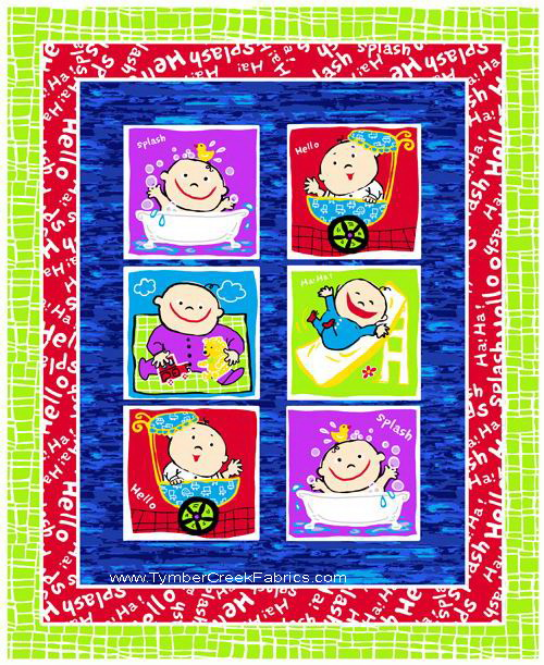 Baby's Day Faces Blocks Fabric Panel