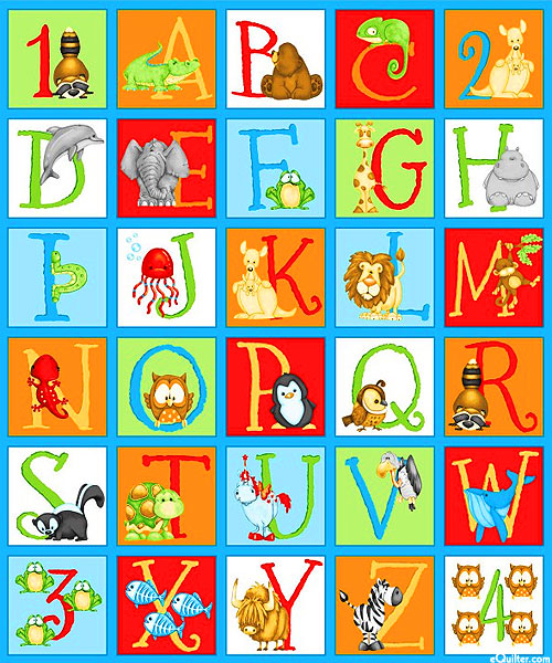 ABC-123 Alphabet Fabric Panel
