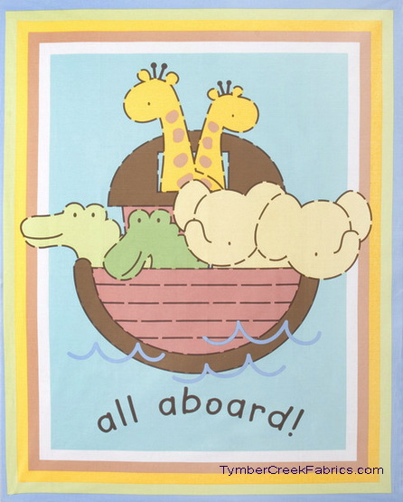 Noah's Ark All Aboard Quilt Wall Fabrics