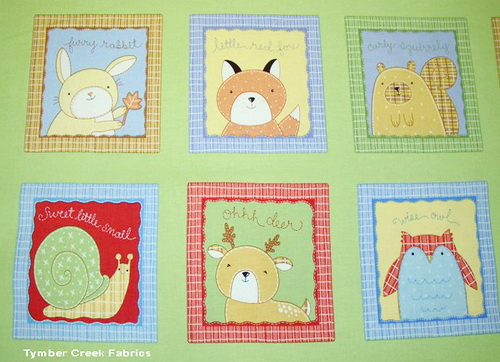 Baby Animals Blocks Ohh Deer Panel