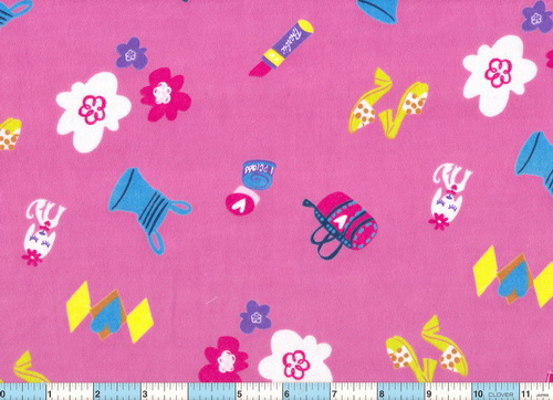 "Barbie Diamond Pink 2yds 10"" Flannel"