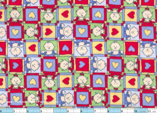 Baby Love - Hearts Flannel