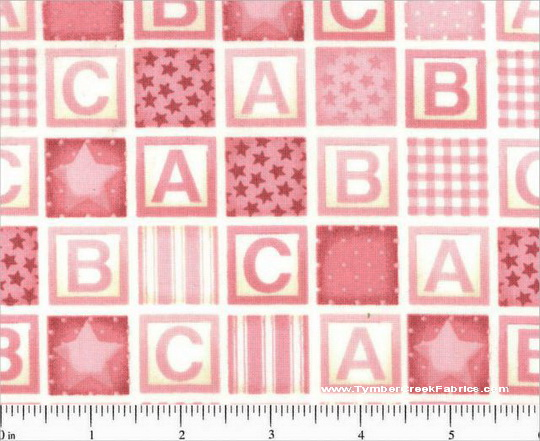 Rock-A-Bye Baby Blocks Pink Alphabet