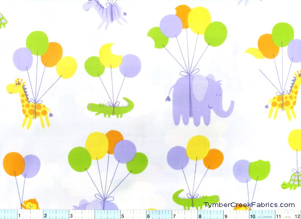 Balloon Safari Up Up & Away Fabric