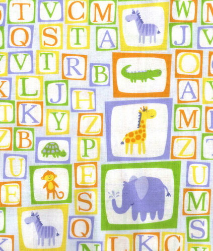 Balloon Safari Alphabet Elephants Gators Giraffe Patches