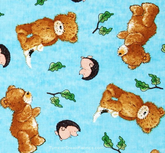 A Beary Fun Day Popcorn Fudge Pickles Tossed Fabric