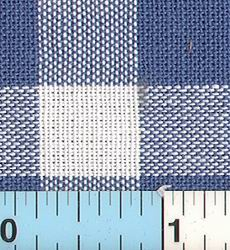 Blue White Gingham Check Decor Weight 35""