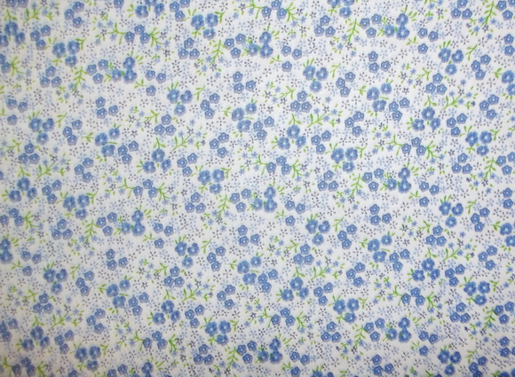 Small Blue Flowers 2yds 23""