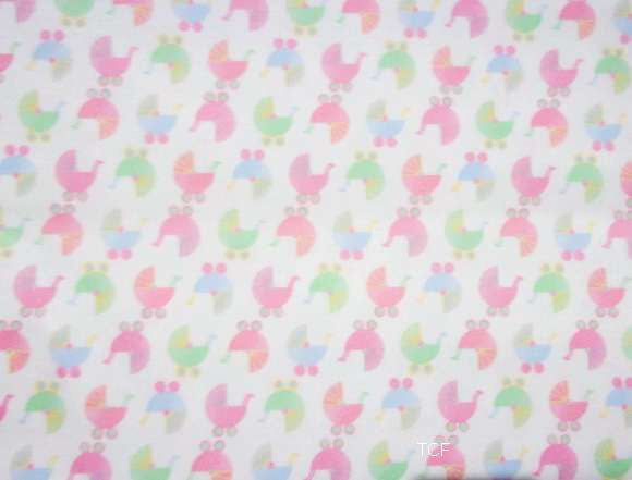 "Baby Buggy Pram Pink Check 1yd24"" Flannel"