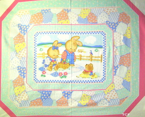 Bunny Daze Quilt Wall Fabric Panel