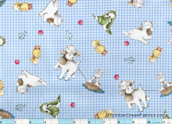 Best Friends Bunnies Puppy Skip It Fabric