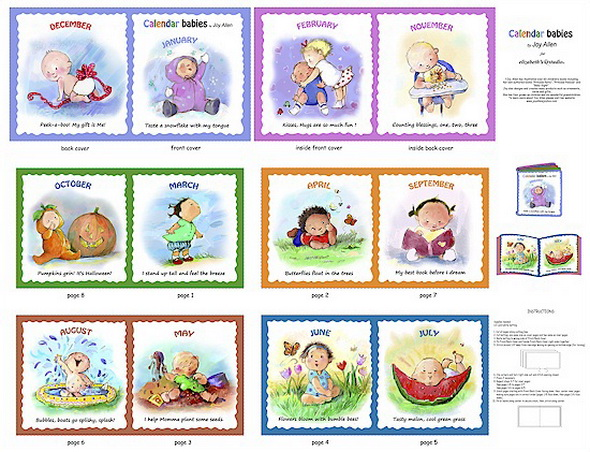Calendar Babies So Cute Fabric Soft Book