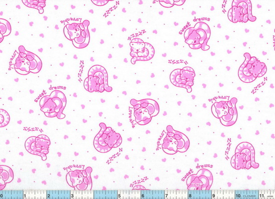 Zzzz Sweat Dreams Fuchsia Cats Flannel