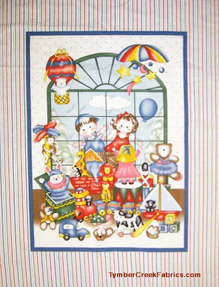 Children Toy Store Fabric Panel