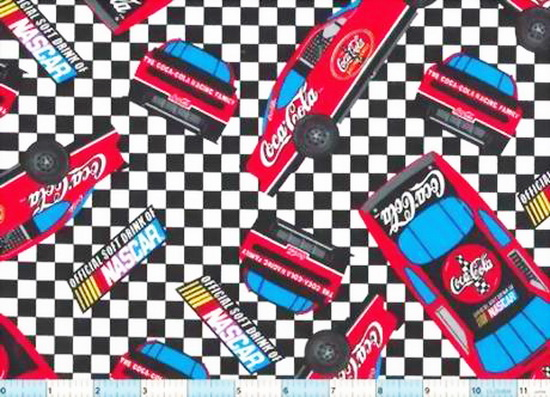 CocaCola Nascar Cars Checks 1yd5""