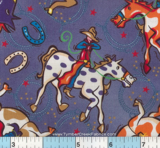 Fleece fabric baby fleece prints panels cotton flannel for Horse fabric for kids