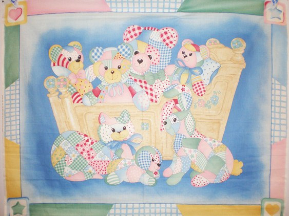 Cradle Babies Quilt/Wall Fabric Panel