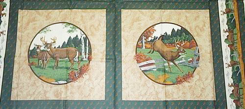 Deer Buck Doe Fabric Panels