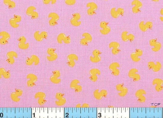 Yellow Duckies Pink