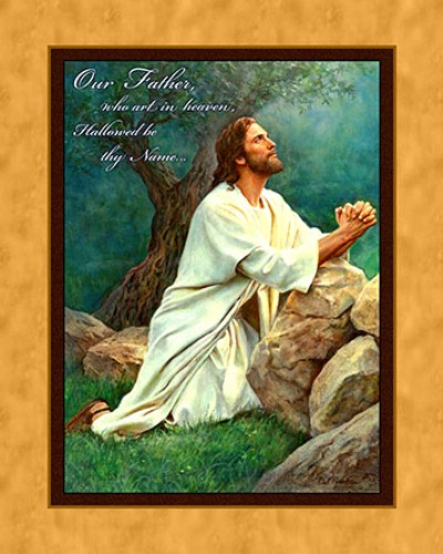 Our Father Praying Wall Panel