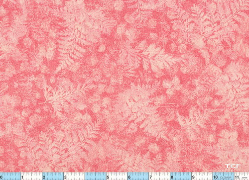 Fresco Fern Leaves Light Rose Fabric