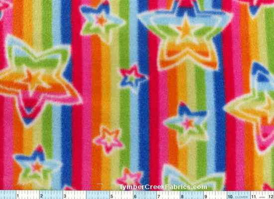 Fleece Stars Stipes Pillow KIT Fleece