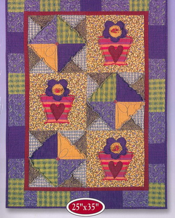 Frayed Flowers Quilt Kit