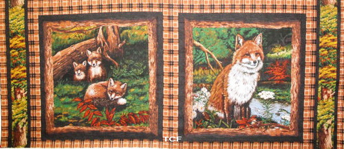 Fox Love Fabric 4 Pillow Panels