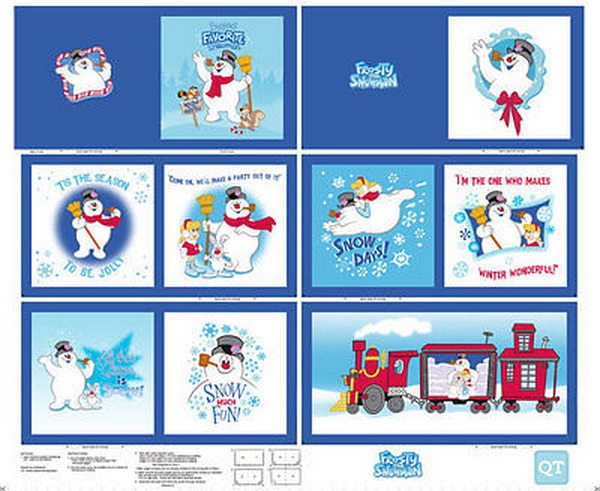 Frosty the Snowman Fabric Book