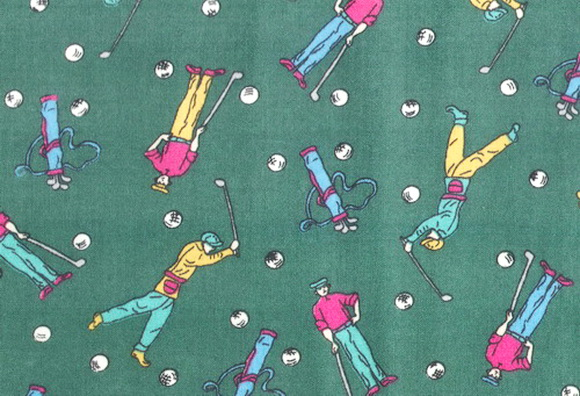 Golfers Golf Bag Clubs Green Fabric
