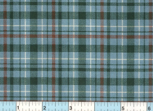 Green Blue Red White Check Fabric